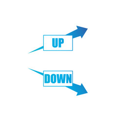 increasing and decreasing arrow setblue arrows vector image