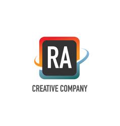 initial letter ra swoosh creative design logo vector image