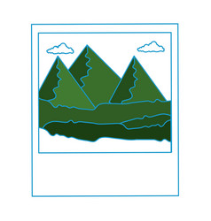 Isolated mountains photography vector