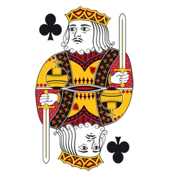 King of clubs no card vector image