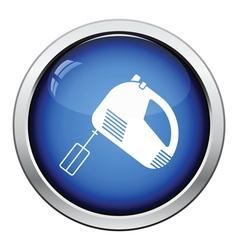 Kitchen hand mixer icon vector image