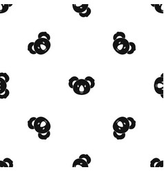 koala pattern seamless black vector image