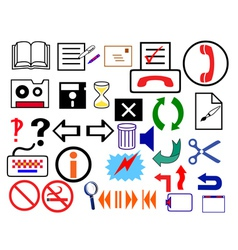 logo signs vector image