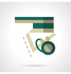 Longboard element flat color icon vector image