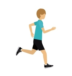 male athlete practicing running isolated icon vector image