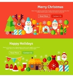 Merry Christmas Website Banners vector image vector image
