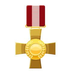 military cross icon cartoon style vector image