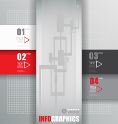 Modern infographic template for business design vector image