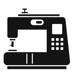 modern sew machine icon simple style vector image