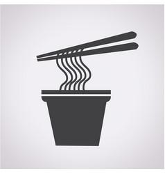 noodles icon vector image