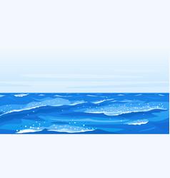 Ocean waves nature background vector