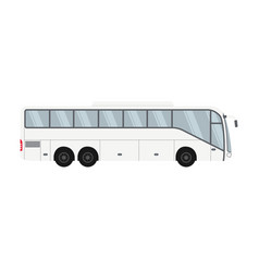 One-floor bus design for transportation and travel vector