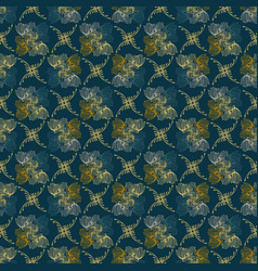 ornamental fall floral seamless pattern vector image