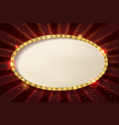 oval cinema frame vector image