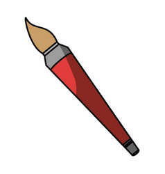 Paint brush isolated vector