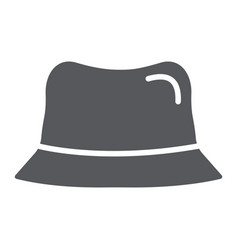 panama hat glyph icon clothes and accessory cap vector image