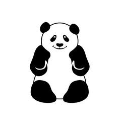 Panda logo design template vector