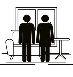 Parents couple silhouette avatars characters vector