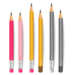 pencils realistic writting or drawing vector image