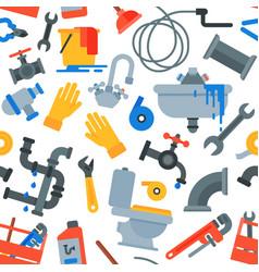 Plumber tools repairing pipes with repair vector