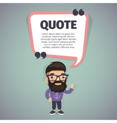 Quote Speech Banner and Hipster vector