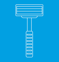 razor equipment for shaver icon outline style vector image