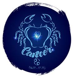 Round zodiac sign cancer vector
