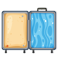 sand and surf suitcase concept vector image