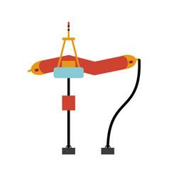 sea wave renewable energy source icon image vector image