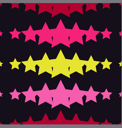 seamless background with decorative stars vector image