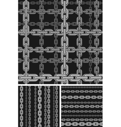 Seamless chain pattern vector image