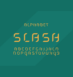 slash fill alphabet letters vector image