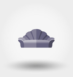 Soft sofa shell vector