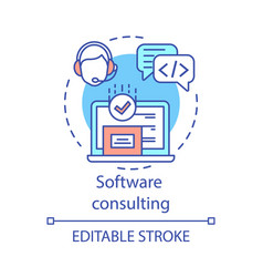software consulting concept icon vector image