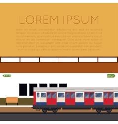 Subway train banner vector image