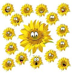 sunflower cartoon vector image