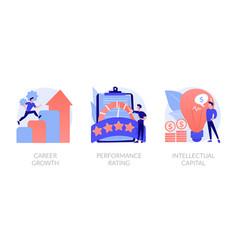 Teamwork skills concept metaphors vector