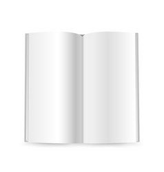 thin booklet mockup isolated on white ready for a vector image