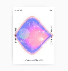 Unicorn flyer kawaii rainbow hologram princess vector