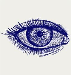 Woman eye vector image