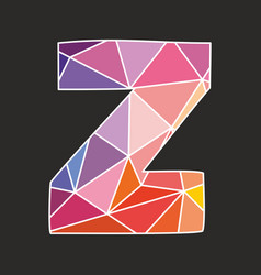 Z alphabet letter isolated on black background vector