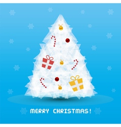 Christmas tree card3 vector image