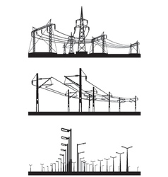 Electrical installations set vector image vector image