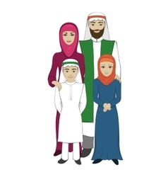 Muslim family concept flat style vector image