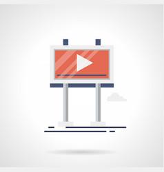 promo video screen flat color icon vector image vector image