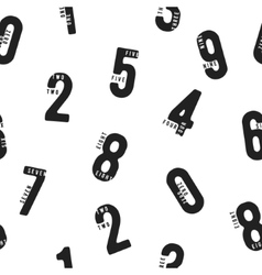 Seamless pattern with numbers vector image
