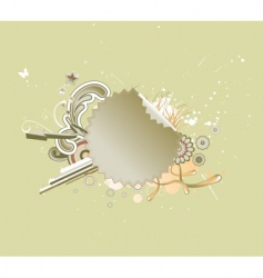 funky abstract background vector image vector image