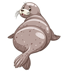 Seal with happy face vector image vector image