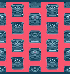 seamless pattern with vintage typewriters vector image