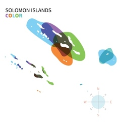 Abstract color map of Solomon Islands vector image
